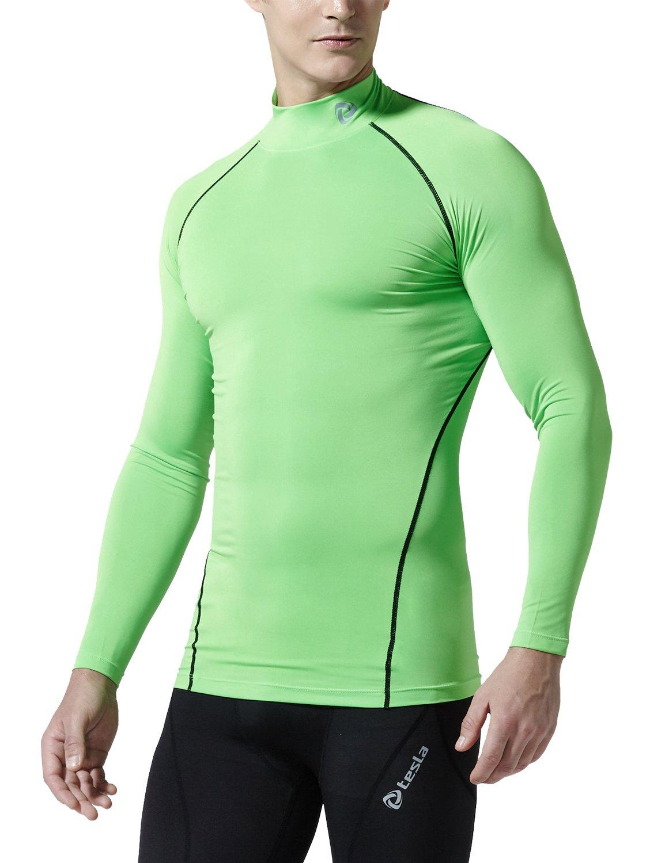 (テスラ)TESLA 長袖 ハイネック スポーツシャツ [UVカット吸汗速乾] コンプレッションウェア パワーストレッチ アンダーウェア T11 / MUT72 B01EV0E0LO S T11-NEKZ(ネオン/ブラック) T11-NEKZ(ネオン/ブラック) S