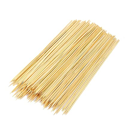Vidillo Bamboo Skewers Sticks,100 BBQ Fruit Kabobs Skewers Set Paddle Picks for Appetizers Grill,Party,Sandwich,Candy Apple,Corn Dog,Corn Cob Cocktail,Chocolate Fountain 7 inches