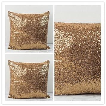 Amazon Com Toss Pillow Best Choice 24 X24 Copper Sequins