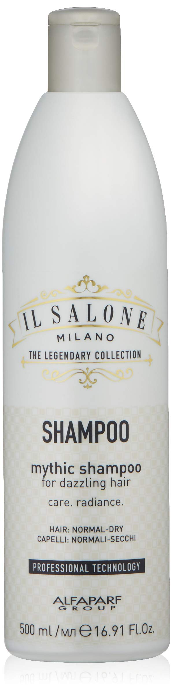 Il Salone Milano Professional Mythic Shampoo for Normal to Dry Hair - Moisturizes and Adds Shine - Premium Quality - 16.91 Fl. Oz / 500ml