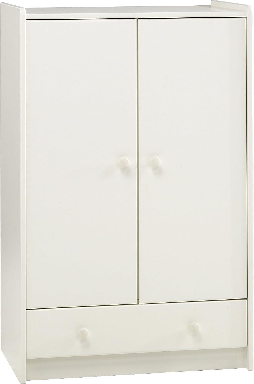 Steens 2-Door/1-Drawer Low Kids Wardrobe, White Non Branded 29009950 FBSTN-158