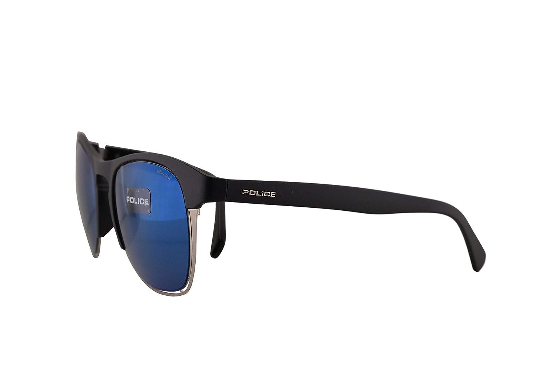 Police S1954M Gafas De Sol Negro Mate Con Lentes De Reflejo ...