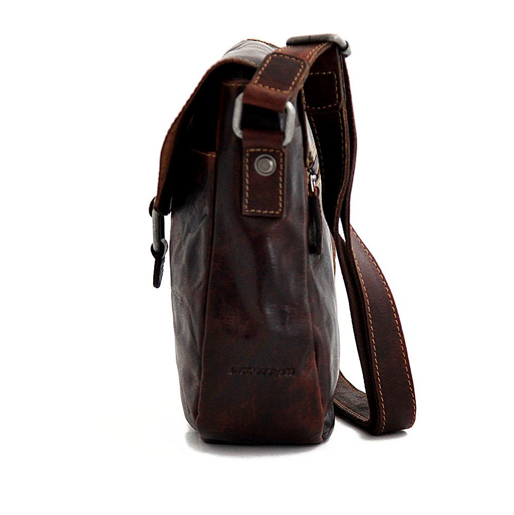 Jack Georges Voyager Horseshoe Crossbody Bag, Leather Shoulder Bag in Brown by Jack Georges (Image #7)
