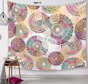 Heylookhere Mandala Print Tapestry Manta de Pared Toalla de Playa Mantel de Pared Colgante (Estilo 15): Amazon.es: Juguetes y juegos