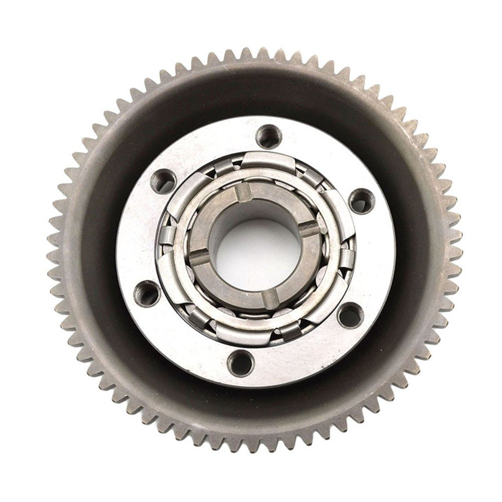 ahl- motocicleta Kit Embrague de arranque Starter Clutch One-way Bearing Gear para Yamaha YBR250: Amazon.es: Coche y moto
