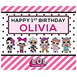 LOL Dolls Birthday Party Personalized Banner