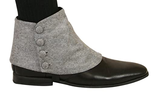 1920s Style Mens Shoes | Peaky Blinders Boots Historical Emporium Mens Premium Solid Button Spats $31.95 AT vintagedancer.com