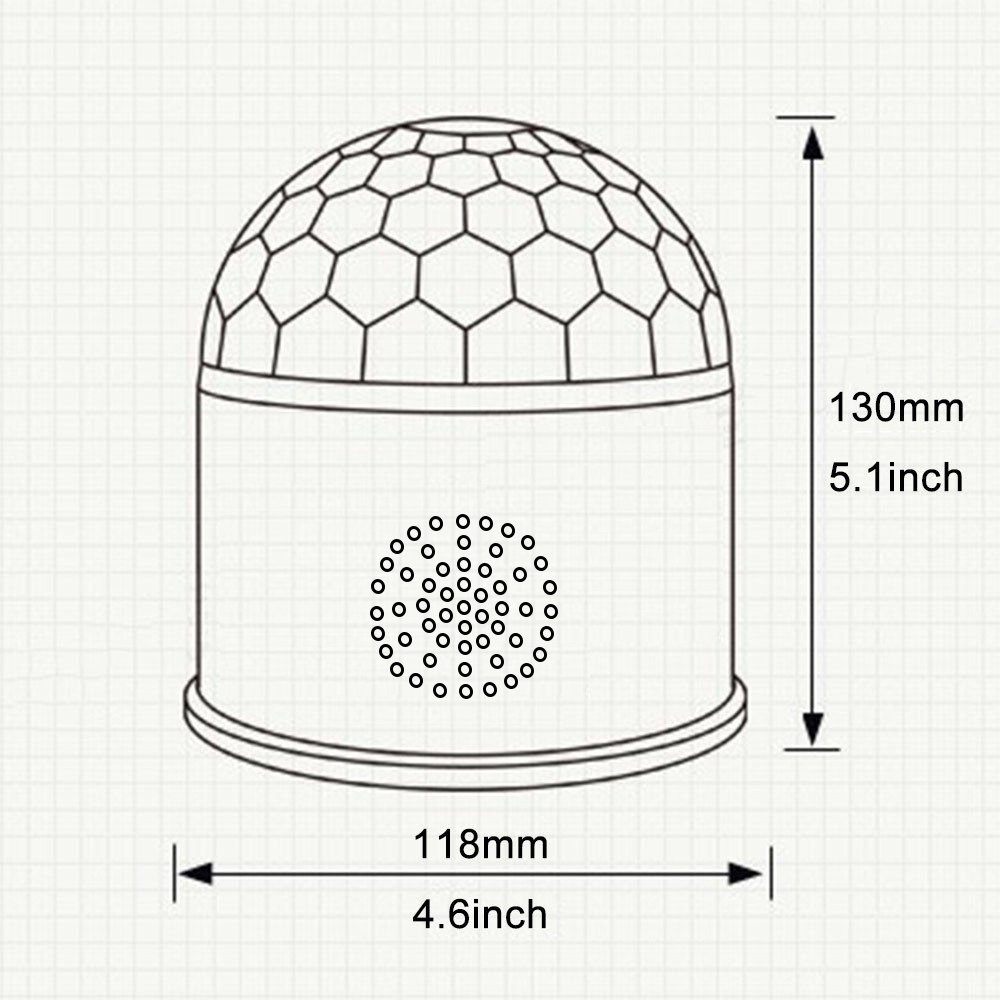 Dj Disco Ball Party Lights Bluetooth Speaker TONGK LED Magic Ball Colorful Mirror Ball Disco Lights Sound Activated Strobe Light for Home Party Gift Birthday halloween Dance Bar Xmas Wedding Show Club by TONGK (Image #5)