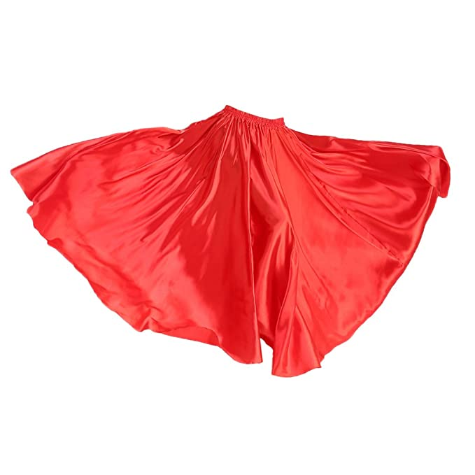 99df7b97c non-brand Sharplace Falda Maxi de Mujer Verano de Satén Cintura Alta ...