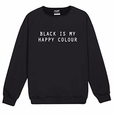 Black Is My Happy Color Sweater Top Women's Fun Fashion at Amazon ...