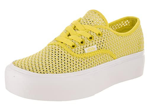 Amazon.com | Vans Unisex Authentic Platform (Summer Mesh) Green ...