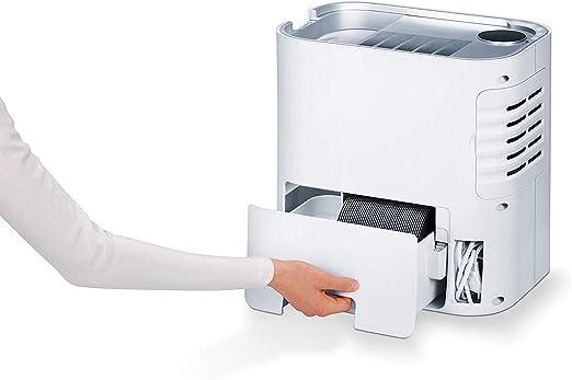 Beurer LR330 Purificador de aire con humidificador, hasta 35m2, 3 niveles de filtración, indicador humedad, temporizador, silencioso, filtro hepa, 60 W, Blanco ...