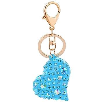 Llavero de piel con forma de corazón para llavero, llaves de ...