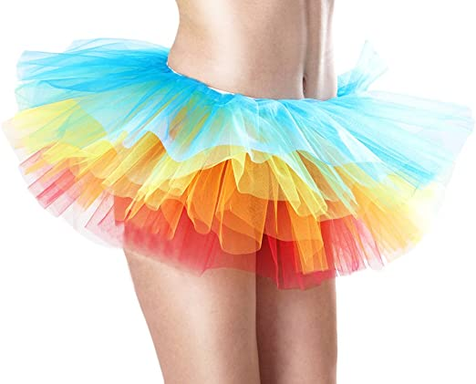 BOLAWOO Falda Corta Mujer Falda Tul Ballet Skirt Princesas Tutú De ...