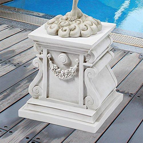 Design Toscano Classic Statuary Garden Plinth Base Riser, Large 15 Inch, Polyresin, Antique Stone ()