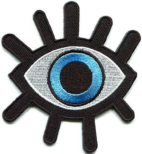 (Eye eyeball tattoo wicca occult goth punk retro applique iron-on patch)