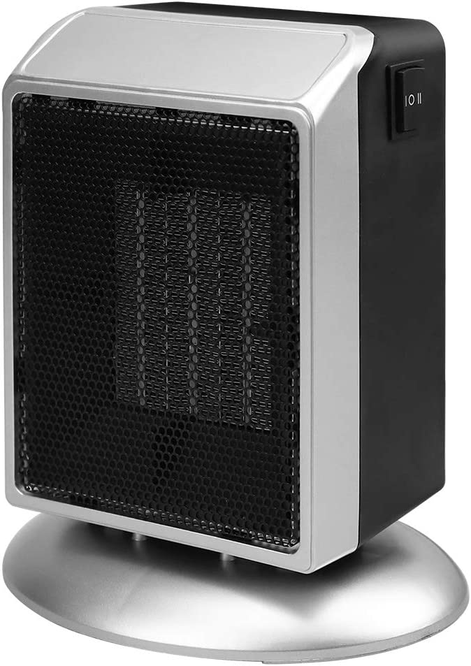 Portable Space Heater, 500W / 900W Personal Ceramic Thermostat in Black,Fast Heating and Adjustable Electric Heater Fan with Overheat Control & Tip-Over Protection for Desk Office Home Indoor Room