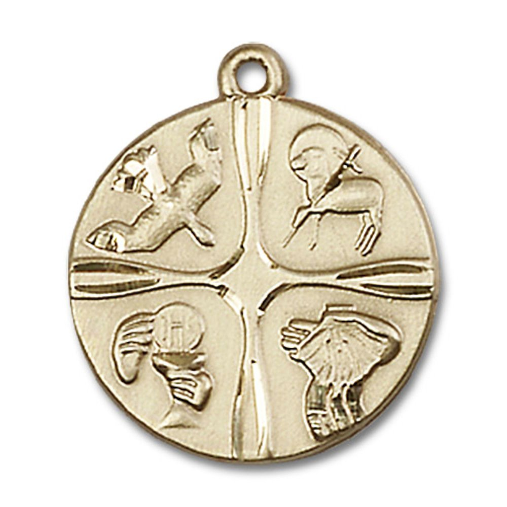 14kt Yellow Gold Christian Life Medal 3/4 x 3/4 inches by Unknown