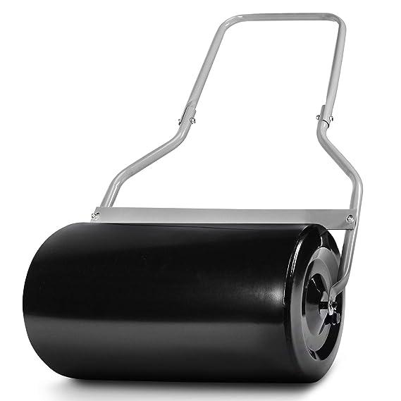 Rodillo de Césped - de 50 cm de Ancho y Volumen 40 L, de Diámetro Ø 32 cm y 50 kg de Peso Máx. Relleno, Fabricado de Acero, de Color Gris - Rodillo de ...