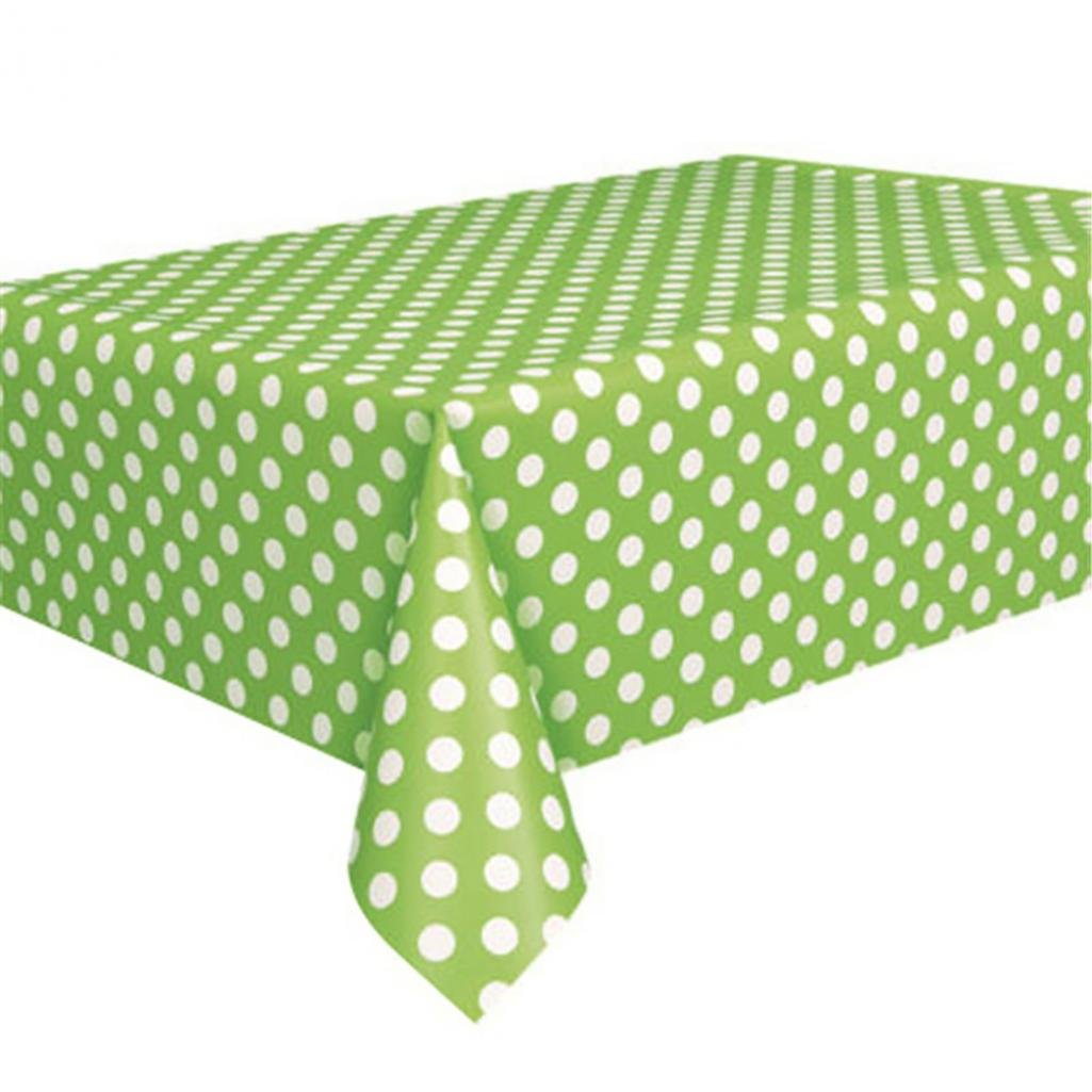 GlobalDeal Birthday Party Tablecloth Dots Spot Family Hotel Travel Disposable Table Cover - Green