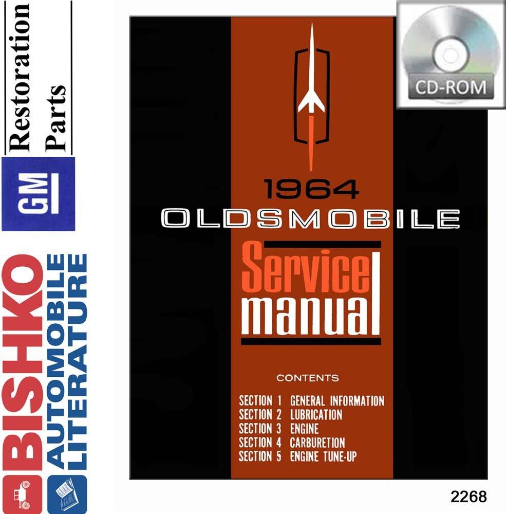 Bishko Automotive Literature 1964 Oldsmobile 98 88 1941 Wiring Diagram Cutlass F85 Shop Body Service Repair Manual Cd Engine