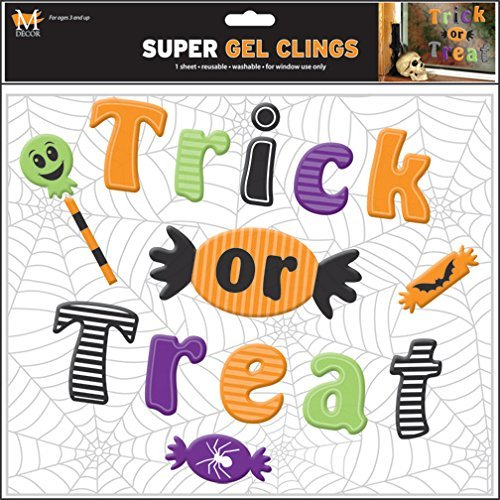 Mello Smello Halloween Set of 15 Decorations Gel Window Clings]()