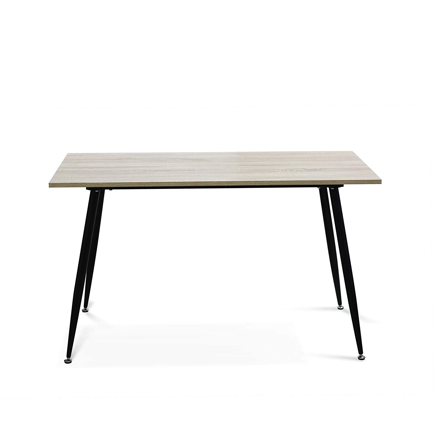 IDS Modern Dining Table,Wooden Look Dining Table with Metal Legs Rectangle Office Table