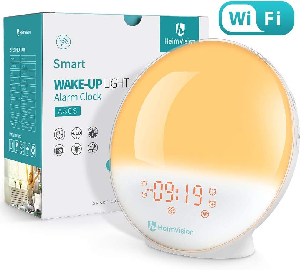 HeimVision Sunrise Alarm Clock, Smart Wake up Light Sleep Aid Digital Alarm Clock