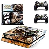 Vanknight Vinyl Decal Skin Sticker Cover Boba Fett Chewbacca for PS4 Playstation Controllers Star Wars The Force Awakens
