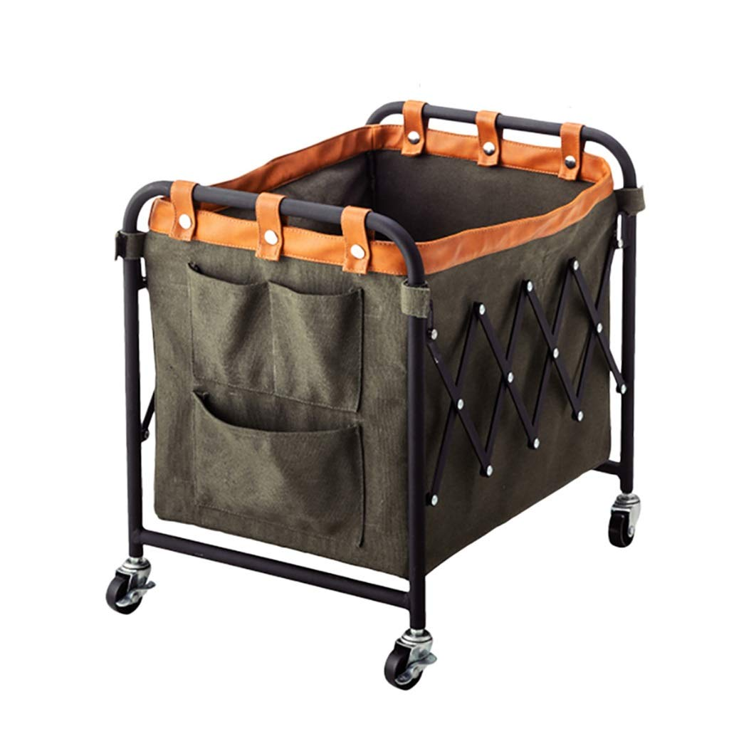 YY Box Storage Basket, 3 Seconds Folding Mobile Living Room Storage Rack | Newspaper Rack | Magazine Storage Rack (Color : A)