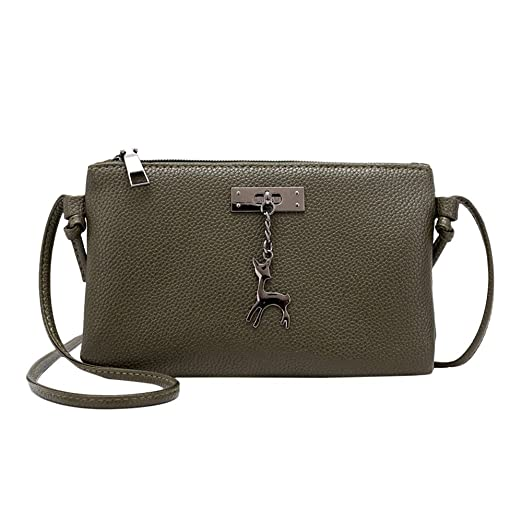 ce70a5b3f6ed Amazon.com: Wugeshangmao💓Leather Crossbody Bag for Women Deals ...