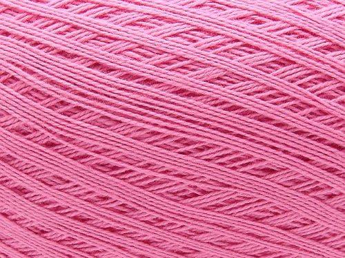 Ovillo grande de hilo de algodon color rosado rosa. Para crochet y ...