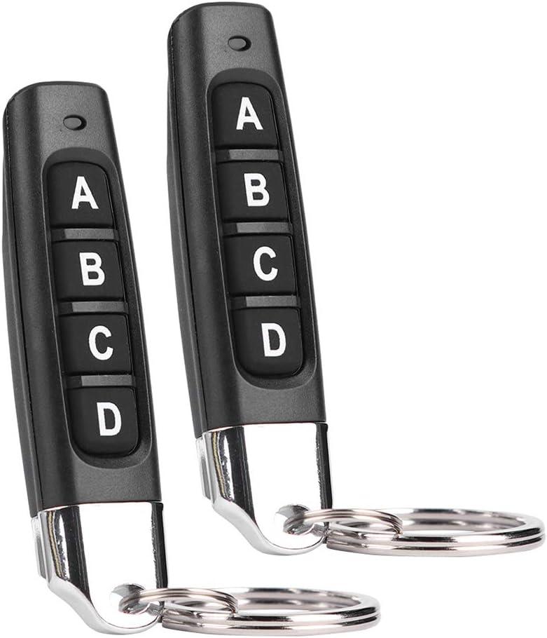 Domybest T/él/écommande Portail Universelle 433 mHZ ABCD 4 Canaux T/él/écommande Clonage /à Code Fixe pour Porte de Garage Porte /électrique