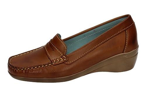 79f12db2 48 HORAS 713021/12 Mocasines DE Piel Mujer Zapatos MOCASÍN Brandy 40:  Amazon.es: Zapatos y complementos