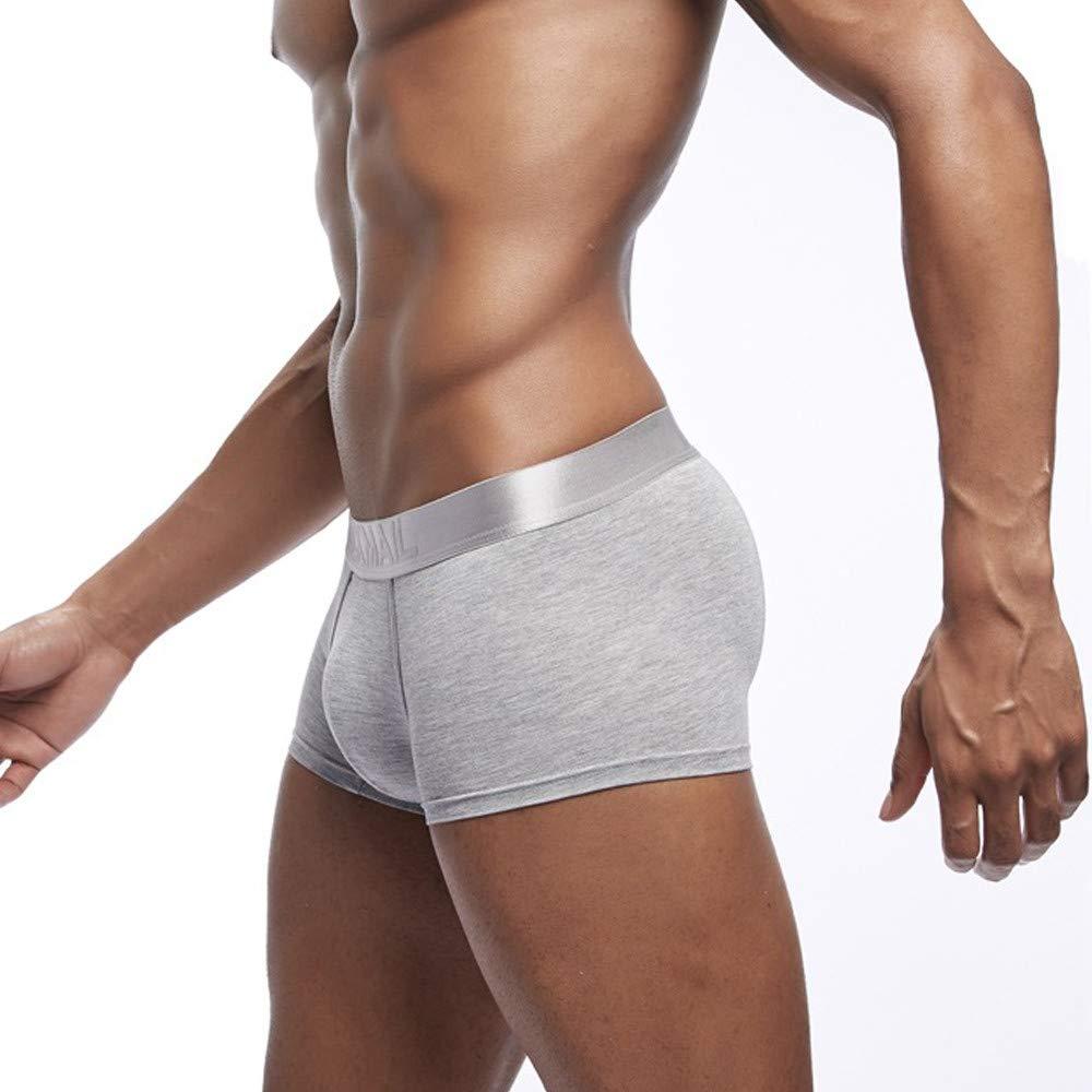 OCEAN-STORE Men Patchwork Underwear Knickers Boxer Briefs Shorts Bulge Pouch Underpants