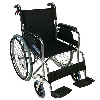 Silla de ruedas plegable | Ligera | Reposabrazos y reposapiés fijos | Ancho asiento 46 cm | Aluminio | Palacio | Mobiclinic