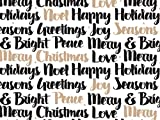 Pack Of 1, Golden Holiday Wishes 24'' X 417' Roll Christmas Premium Gift Wrap Papers For 175 -200 Gifts Made In USA