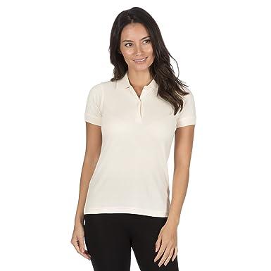 956aede741c B&C Womens Organic Cotton Polo Shirt Fair Trade Jersey Pique T-Shirt Top