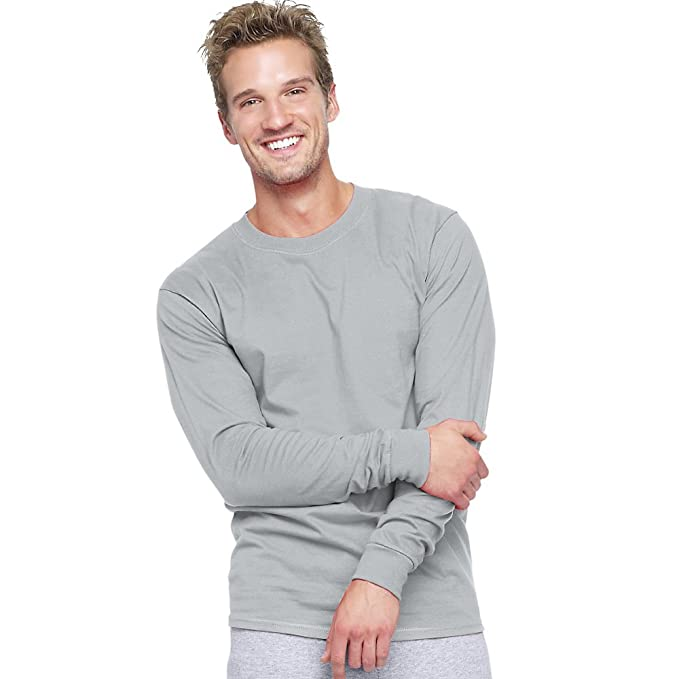 717401f6 Image Unavailable. Image not available for. Color: Hanes Men's Beefy-T Long- Sleeve ...