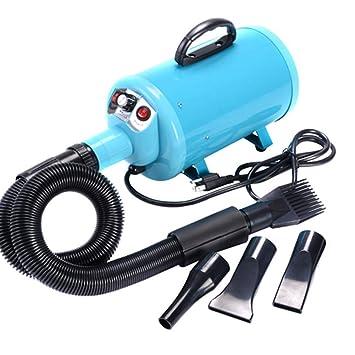 Peluquería para Perros Secador para Mascotas Secador De Cabello Blower 220V / 110V 2200W Azul: Amazon.es: Productos para mascotas
