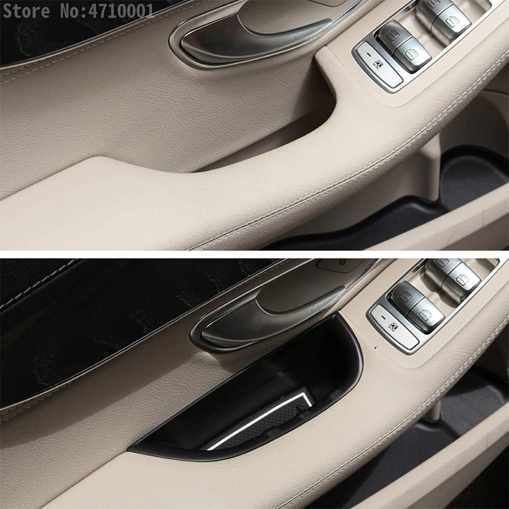 Nero ZQTG Vano Scatola portaoggetti Maniglia Porta Anteriore 2 Pezzi Adatto per Veicoli con Guida a Sinistra Adatto per Mercedes Benz Classe C W205 GLC X253 2015-2018 Nero