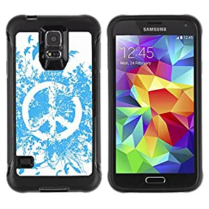 ZeTech Rugged Armor Protection Case Cover - Cool Abstract Peace Sign - Samsung Galaxy S5