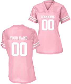 455dc90a23d Sport-Tek Womens Custom Stadium Replica Football Jersey (Pink, Large)