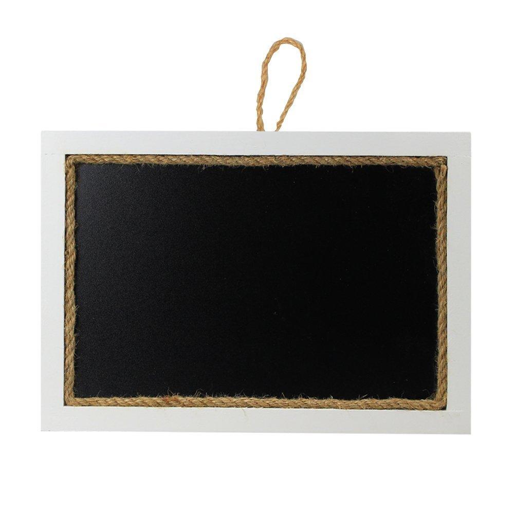 SUPERIORFE Rustic Style Message Memo Chalkboard Sign, Blackboard (11''W X 15.3''L, WHITE)