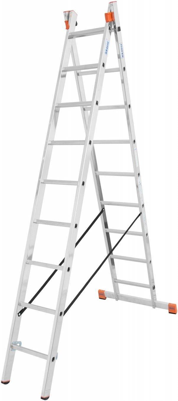 Krause - Escalera multiusos Dubilo® 2x9 2 x 12 peldaños, escalera de tijera para caballo, 2 x 9 peldaños: Amazon.es: Bricolaje y herramientas