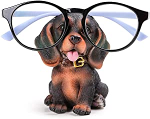 GUIRONG Fun Eyeglass Holder Display Stands - Home Office Decorative Glasses Accessories (Dachshund)