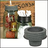 1 X Mason Jar Tapered Cup Lid Barn Roof