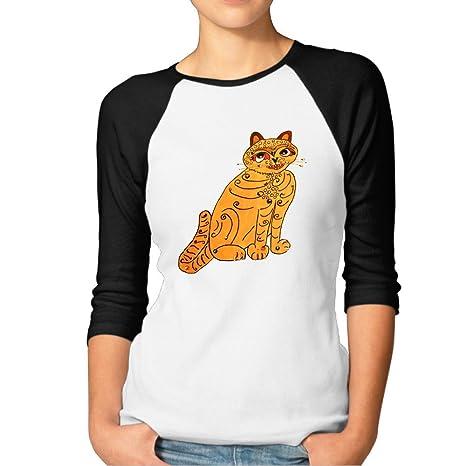 a2bd3430fbcef Women's Band ABBA Yellow Cat Raglan Baseball T-Shirt: Amazon.ca: Clothing &  Accessories