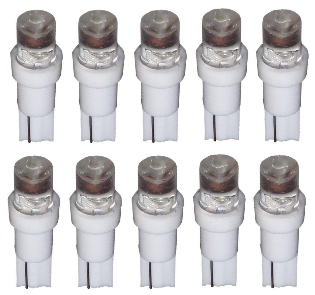 Aerzetix: 10x Ampoules T5 24V LED blanc pour tableau de bord camion semi-remorque SK2-C11763-B37