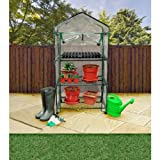 Kingfisher GH3T 3 Tier Greenhouse on Wheels - Multi-Colour